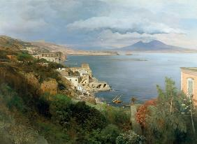 Achenbach, Oswald : View at the Gulf of Naples