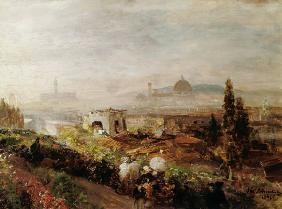 Achenbach, Oswald : Look on Florence.