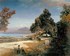 Achenbach, Oswald : Golf of Naples