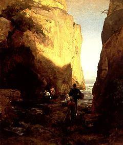 Achenbach, Oswald : Entry to the grotto