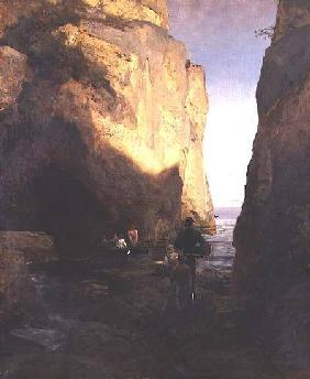 Achenbach, Oswald : Entering the Grotto