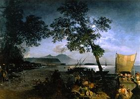 Achenbach, Oswald : At the golf of Naples