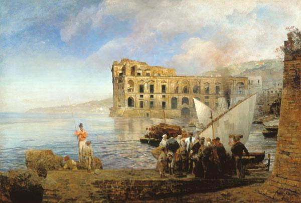 Achenbach, Oswald : With Naples Johanna books ...