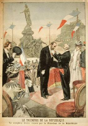 Jules Dalou (1838-1902) being awarded with the medal of the Legion of Honour by Emile Loubet (1838-1