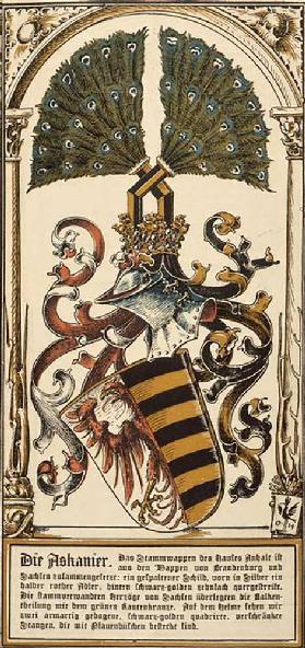 The family coat of arms of the German royal houses: the Ascanians