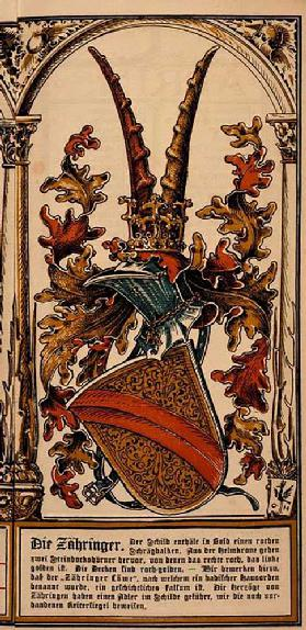 The family coat of arms of the German princely houses: the Zähringer