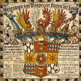 Genealogy and coat of arms of the princes of Lippe