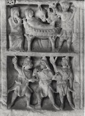 Detail of a relief from the Sarcophagus of the Nativity