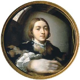 Self-portrait in the convex mirror