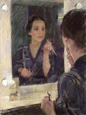 Before the Show (pastel on paper)