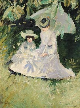 Madame Helleu and her Daughter at the Chateau of Boudran