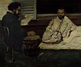 Paul Alexis (1847-1901) Reading a Manuscript to Emile Zola (1840-1902) 1869-70