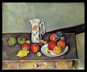 Still life with milkjug and fruit