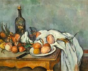 Still life with onions um 1895