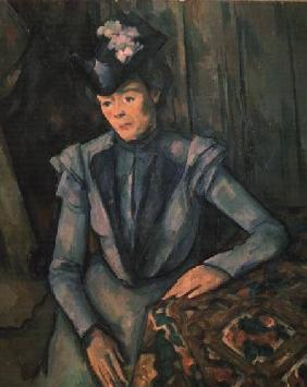 Woman in Blue (Madame Cezanne)