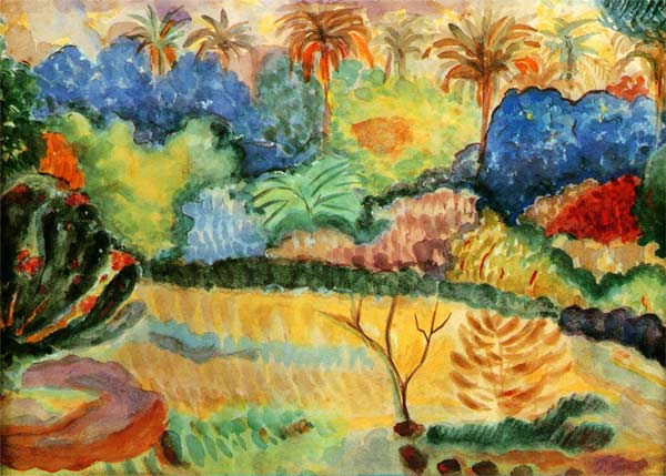 Tahitian Landscape Paul Gauguin As Art Print Or Hand