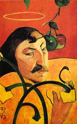 Self Portrait With Halo Paul Gauguin As Art Print Or