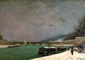 The Seine at the Pont d'Iena, Winter