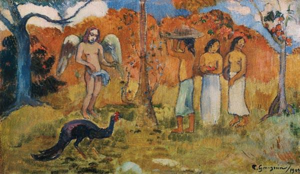 Gauguin, Paul : Three women and an angel