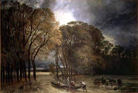 The Flood At Saint Cloud Paul Huet As Art Print Or Hand