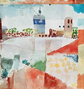 Klee, Paul : Hammamet with the mosque 1...