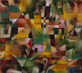 Klee, Paul : Landscape with a yellow ch...