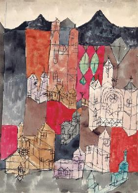 Klee, Paul : Town of the churches (chur...