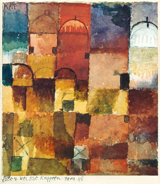 Klee, Paul : Red and white domes