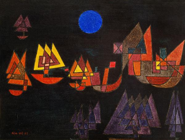 Klee, Paul : Ship in the dark one