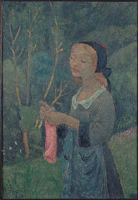 Serusier, Paul : Girl with a Pink Stocking