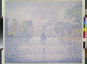 Signac, Paul : River steamer
