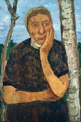 Peasant Woman and Birch Tree