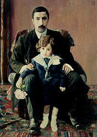 Armand Franzewitsch Auber with his son