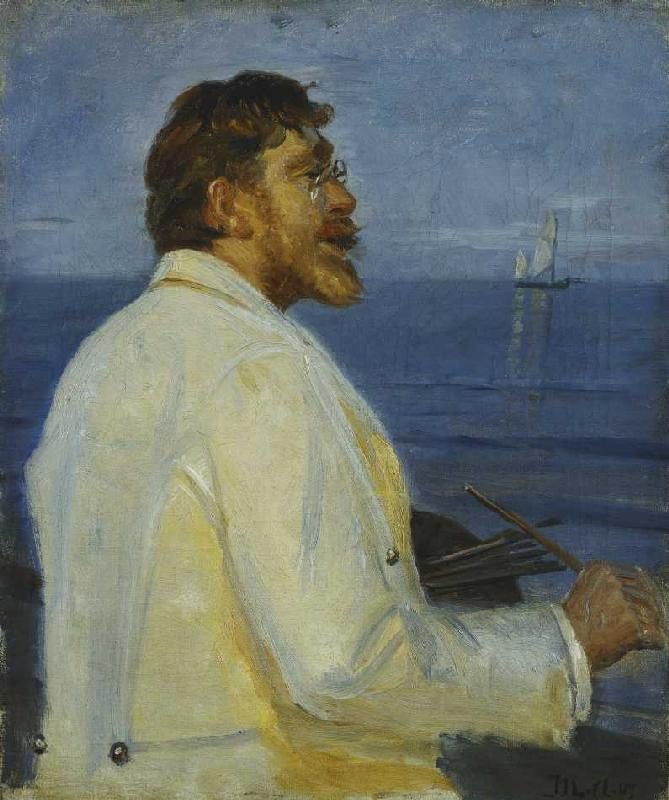 Portrait of the painter Peder Severin Kroyer by Michael Peter Ancher