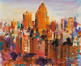 Upper Manhattan, 2000 (w/c on paper)