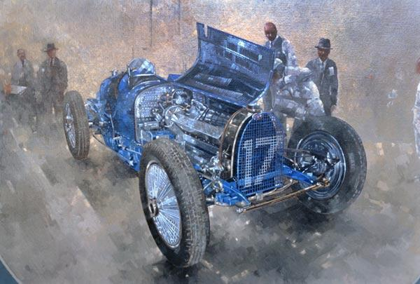 Type 59 Grand Prix Bugatti, 1997 (oil on canvas)