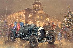 Christmas Party at Brooklands (oil on canvas)