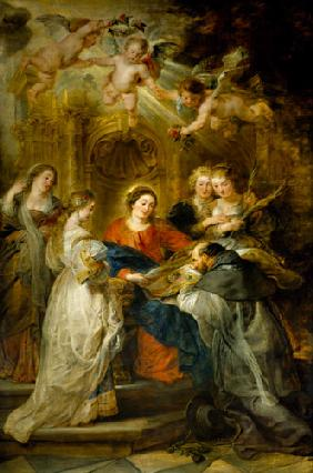 Rubens, Peter Paul : Ildefonso altar, middle pi...