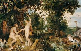 Adam and Eve in Worthy Paradise um 1616
