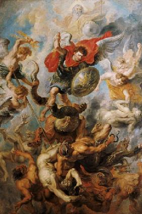 Rubens, Peter Paul : The Engelsturz. Archangel ...