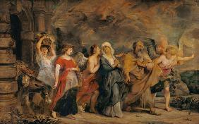Lot's Family Leaving Sodom