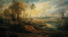 Rubens, Peter Paul : Landscape with a Birdcatch...