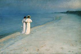 Kroyer, Peter Severin : Summer Evening on the Skag...