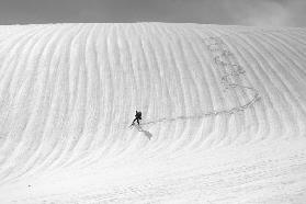 Snow wave surfing