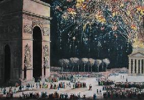 View of the Arc de Triomphe with Fireworks