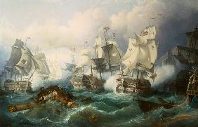 The naval battle of Trafalgar
