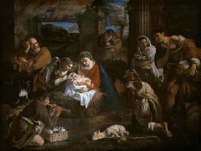 Mola, Pier Francesco : The adoration of the sheph...