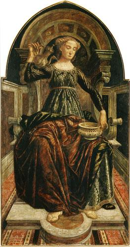 Temperance, from a series of panels depicting the Virtues designed for the Council Chamber of the Me