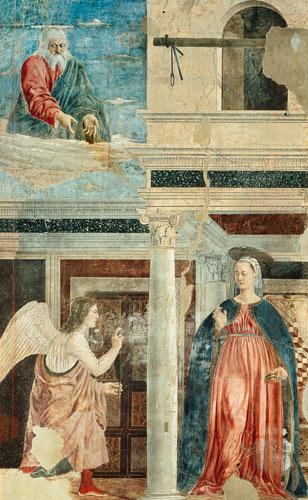 Annunciation, from the True Cross Cycle - Piero della ...