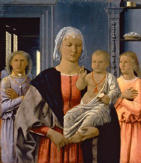 Madonna of Senigallia with Child and Two Angels, c.1470 (tempera on panel)